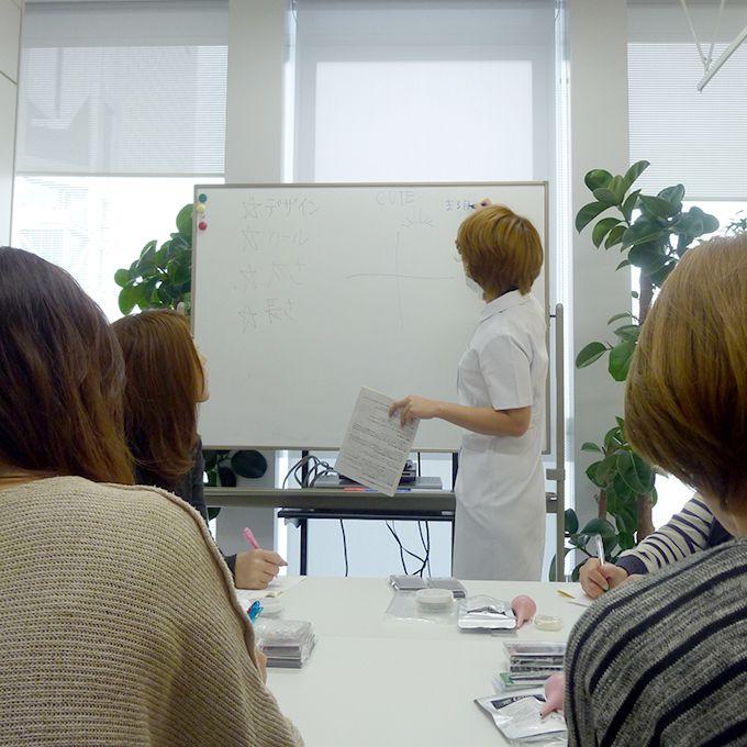 まつ毛エクステンション1日講習授業風景