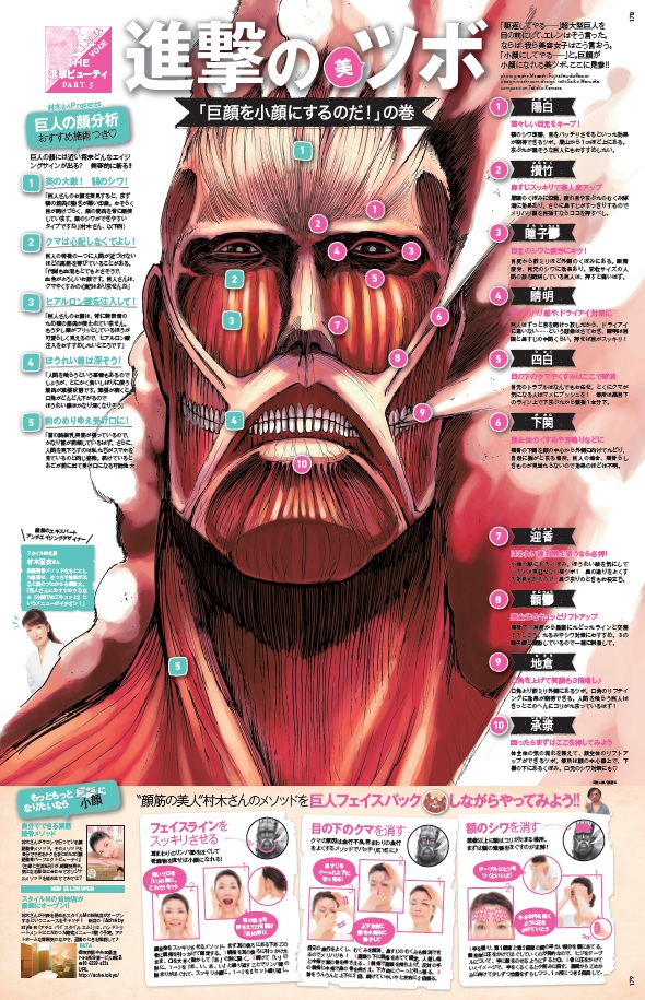 人気漫画「進撃の巨人」で学ぶ?小顔になるためのつぼ