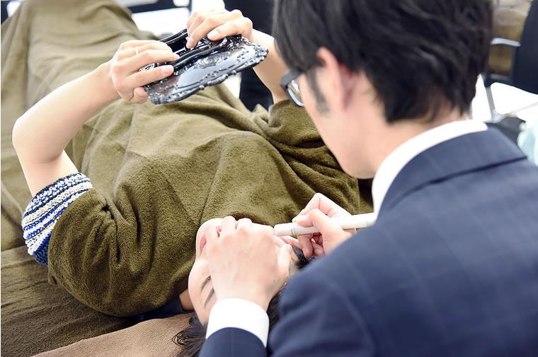 フォレストエステティックスクール東京秋葉原 リニューアル発表会 シミケア体験